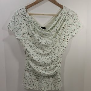 Ann Taylor- Polka Dot Scoop- neck Blouse